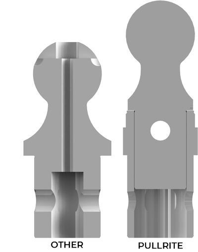 OE Gooseneck Ball Cross Section Comparison