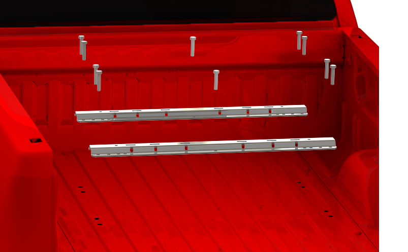 ISR Series rails in red truck exploded view