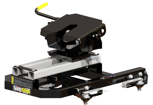 #2915 OE Puck Series 20K SuperGlide, Automatically Sliding Fifth Wheel Hitch for Short Bed Chevy Trucks with OE Pucks